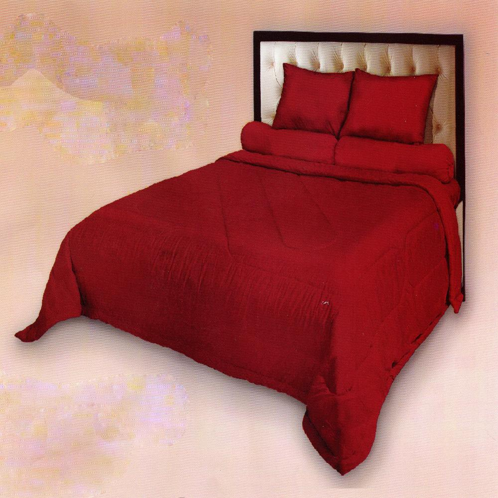 Fata Sprei Polos Jacquard Emboss Single 120x200 cm Warna Pompeian Red