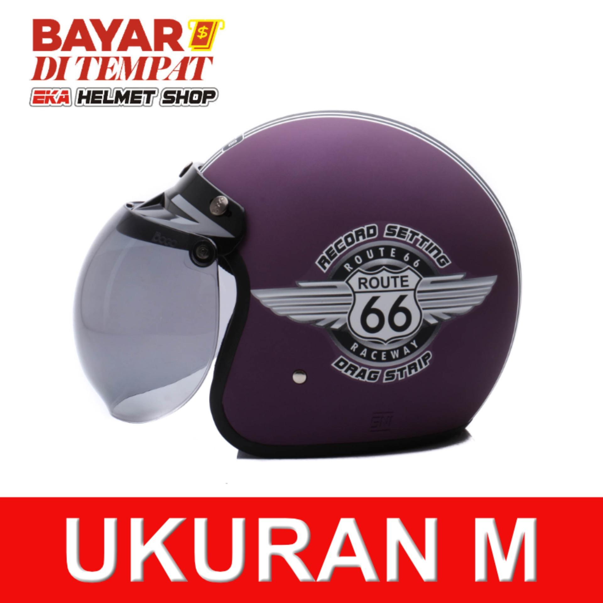 Review Wto Helmet Retro Bogo 66 Violet Doff Terbaru