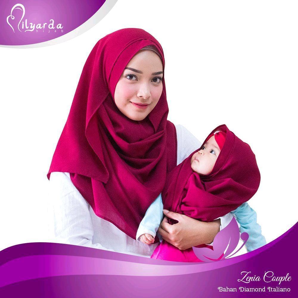 Milyarda Hijab Instan Zenia Couple Fashion Kerudung Jilbab Syari Pashmina Instant