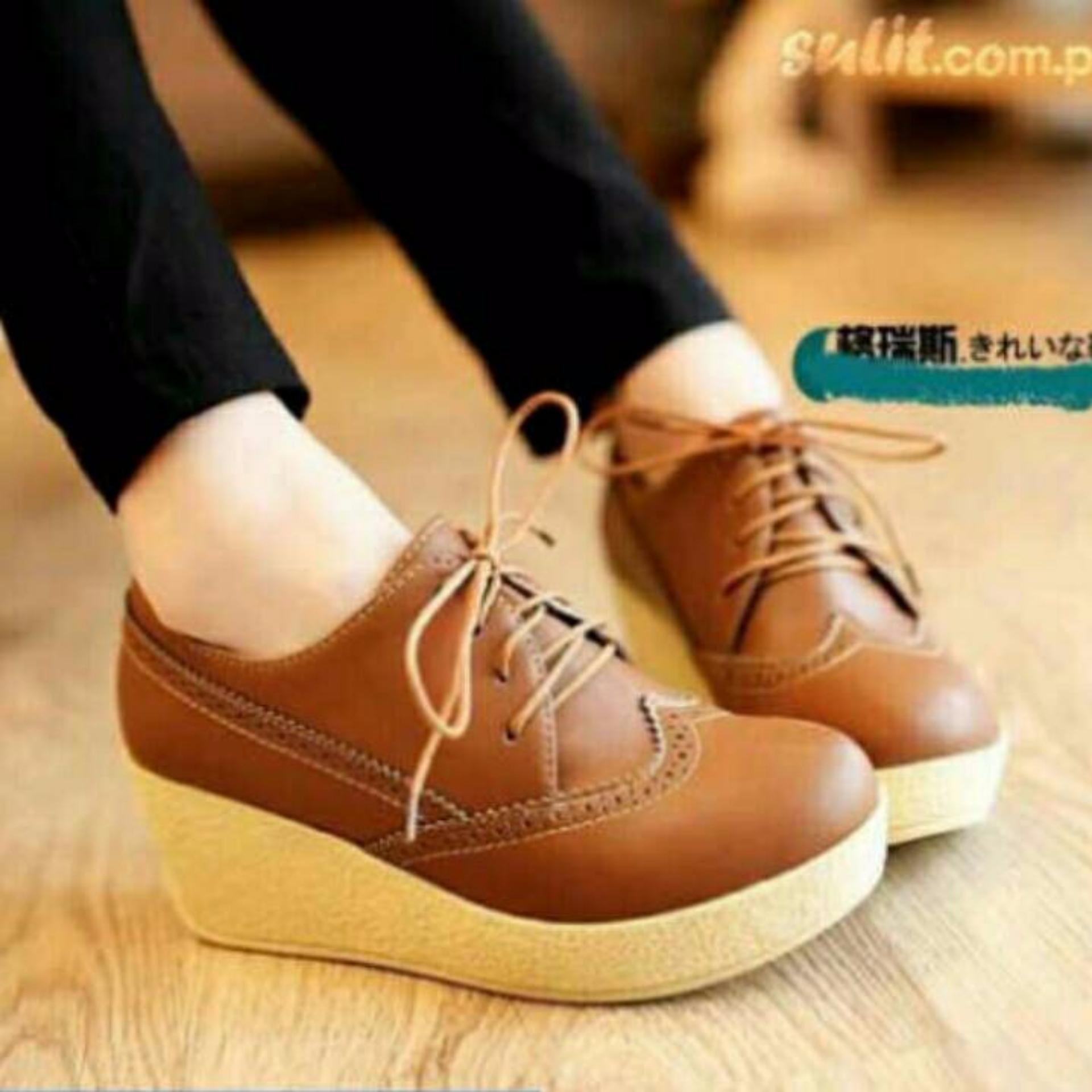 Jual Sepatu Kulit Wanita Wefges Boots Tan Cah 0174 Satu Set