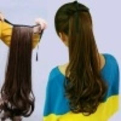 Poni Tail Ikat Lurus /  Curly / Ponytail / Pony tail cilp