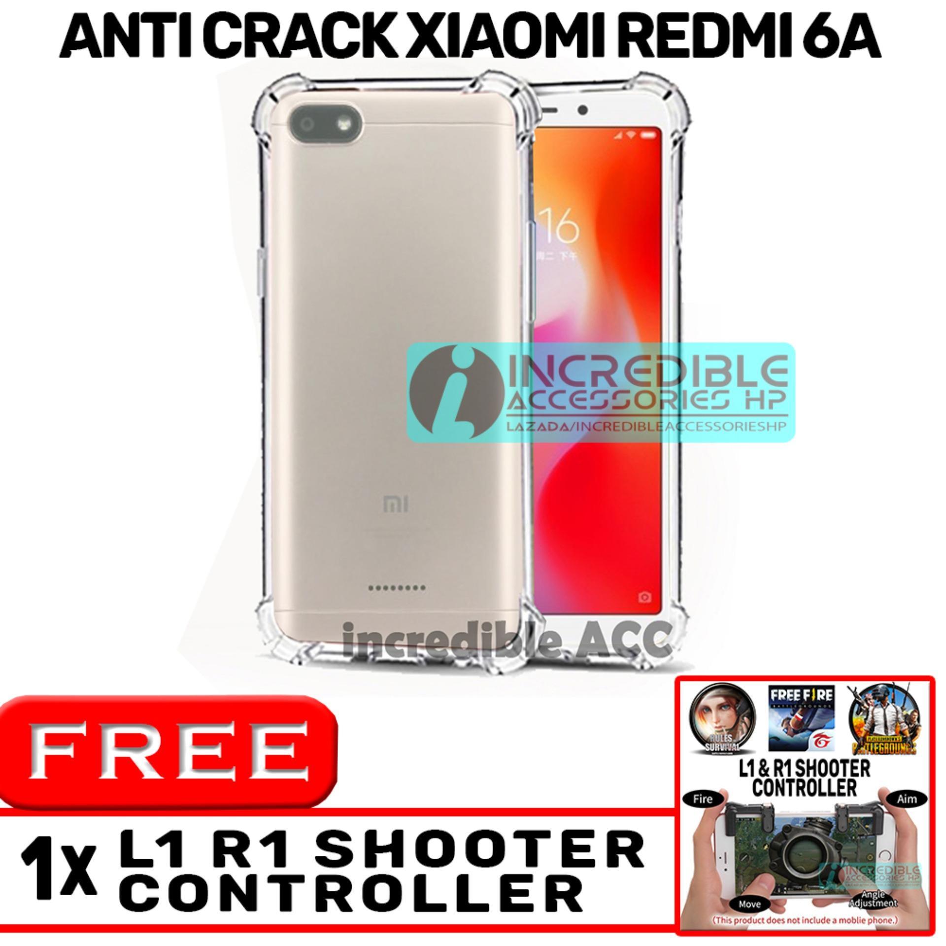 Anti Crack for Xiaomi Redmi 6A Softcase Elegant Anti Shock Jelly Case - Bening + Free