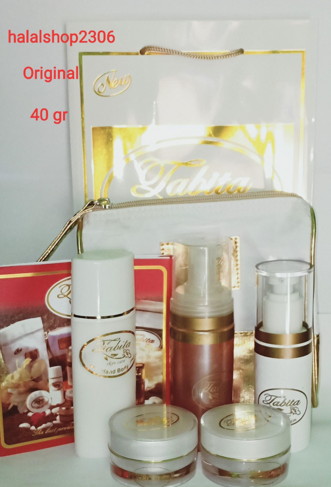 Paket Tabita skin care Exclusive set 40 gr 5 in 1 original free hand and body