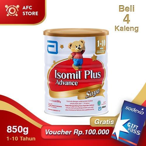 Jual Isomil Plus Advance Soya 850Gr 4 Kaleng Sodexo Giftpass 100 000 Isomil Asli