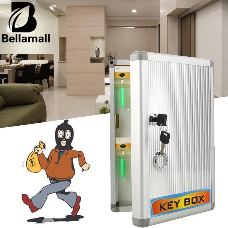 Bellamall: Aman Brankas Keamanan Kabinet Kunci Kotak Penyimpanan Kombinasi Kabinet Arus Kunci Dinding-Internasional