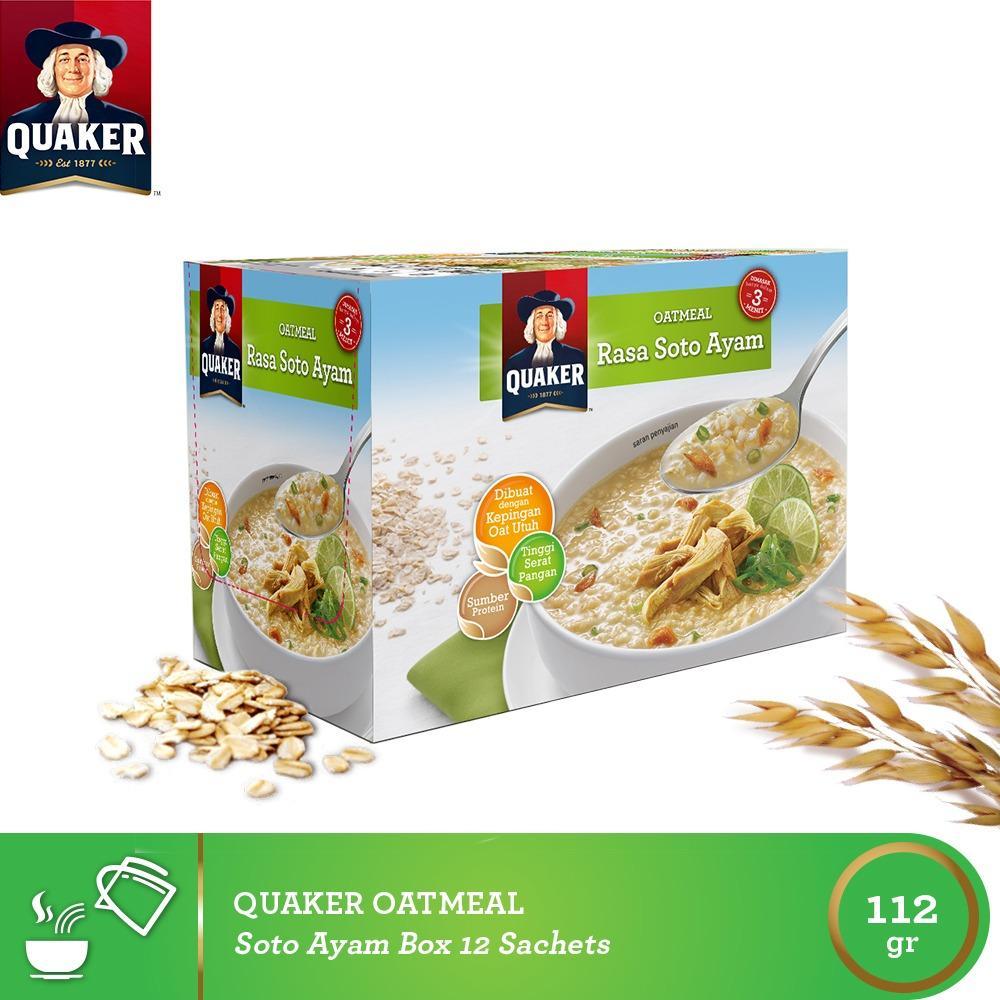 Kelebihan Mix Pack Quaker Instant Oatmeal Soto Kari Box 4s 4 Pcs Jar 1 Carton 12 P Ayam 12s