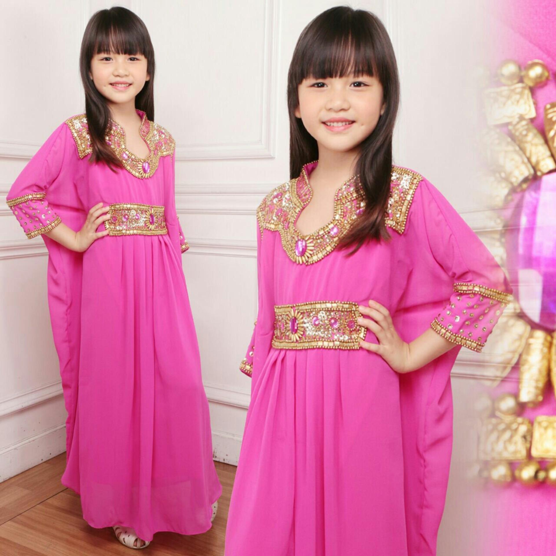Anami Fashion - Pakaian Anak Perempuan Fashionable - Gamis Kids - Kaftan Adriana