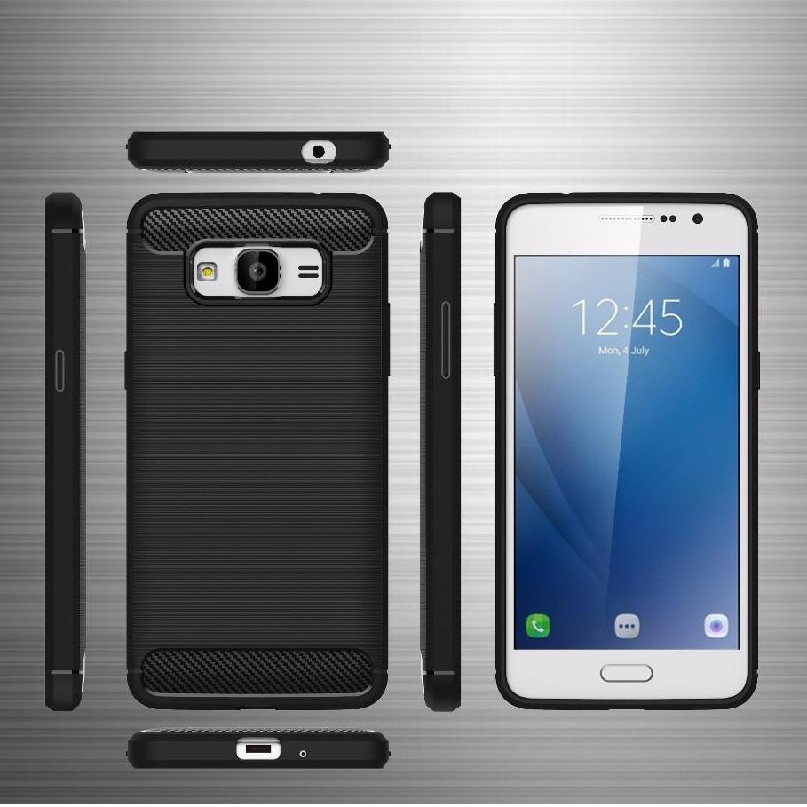 Case for Samsung Galaxy J2 Prime Ipaky Softcase Premium Texture Carbon Fiber CF TPU Silikon ...
