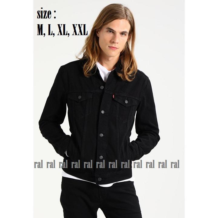 RAL - jaket jeans denim pria black (hitam) / BEST SELLER