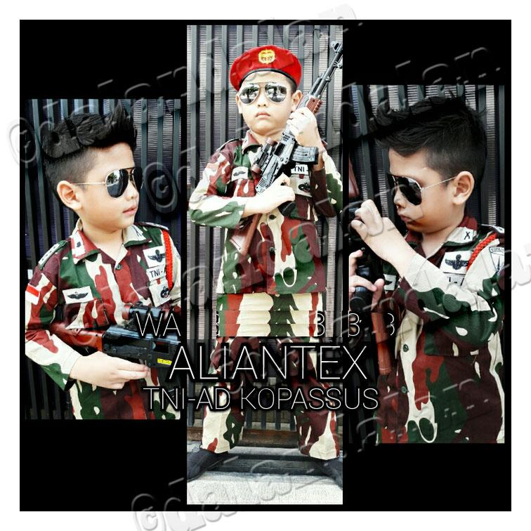 Baju Anak Kopassus Kopasus TNI AU AURI Polisi Tni AD Angkatan Udara Darat  Tentara Army Celana 43ef92f9bc