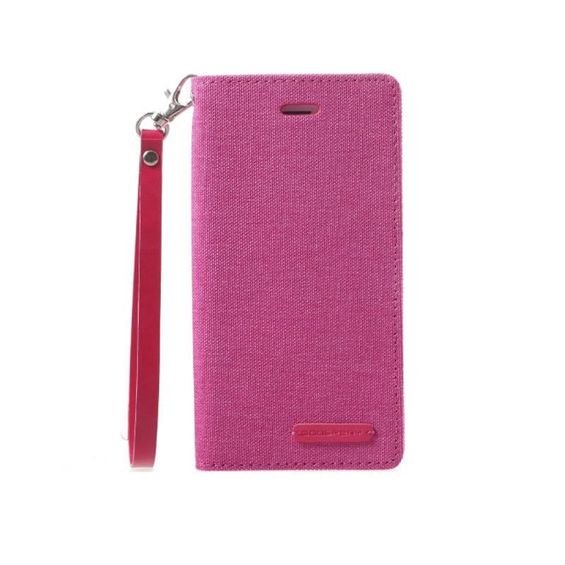 Mercury New Canvas Flip Case for Apple iPhone 8 Plus - Pink