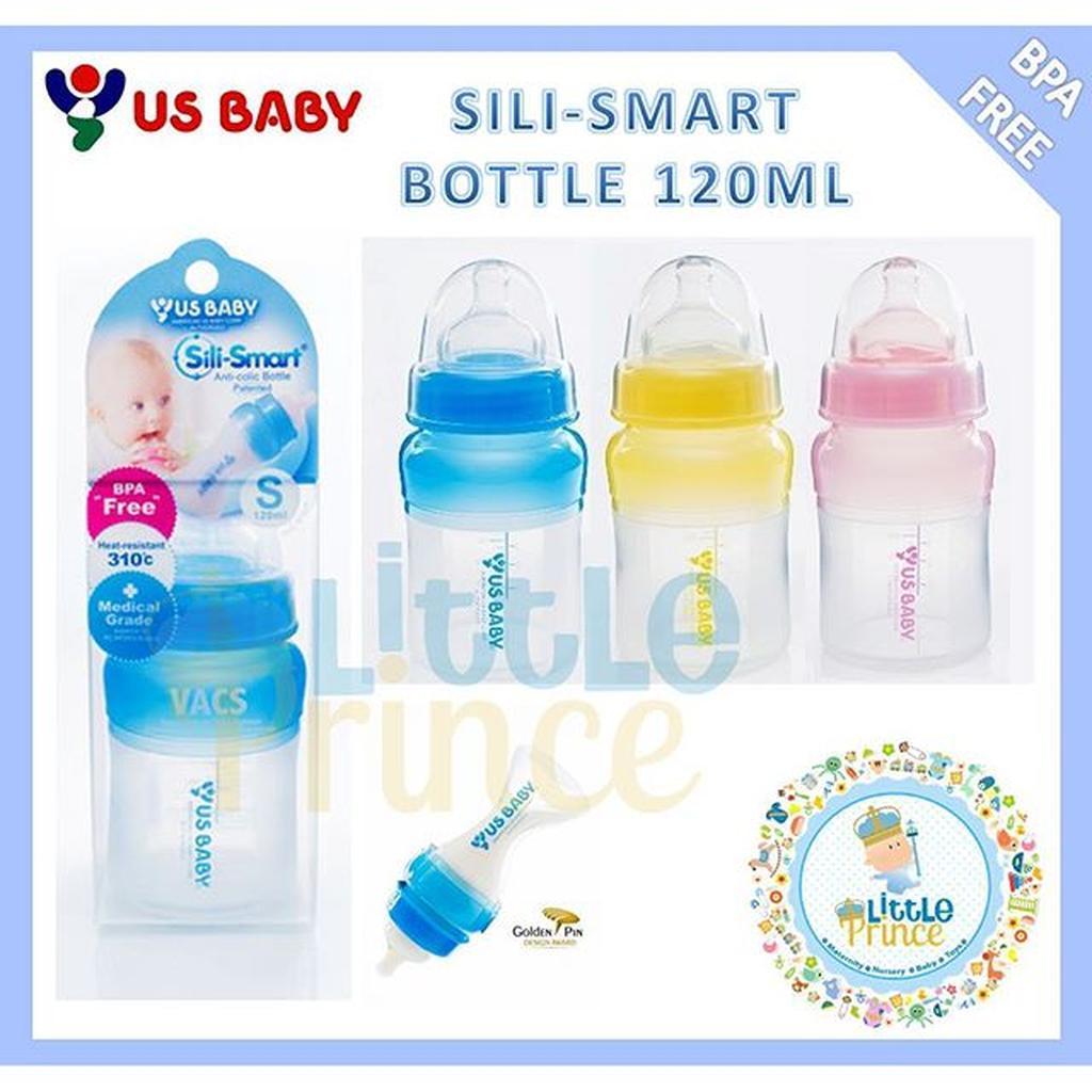 Promo Harga Us Baby Sili Smart Pacifier Pink Amp Teether Small Silicone Bottle 120ml Ping Merah Muda Botol Dot Bayi Blue Empeng Biru