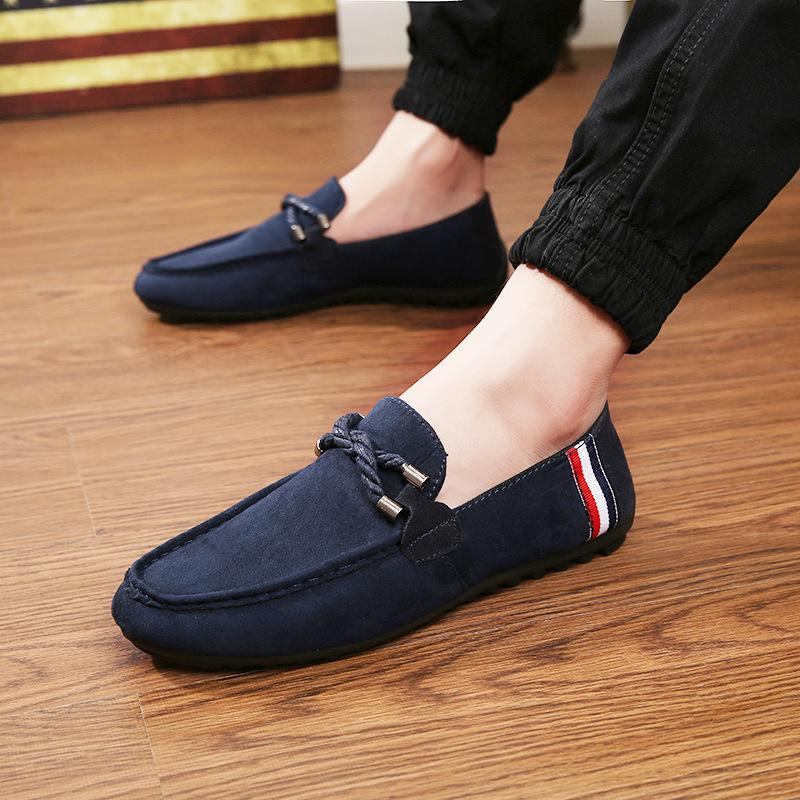 Men's Driving Shoes Leather Sandal Casual Slip On Loafers