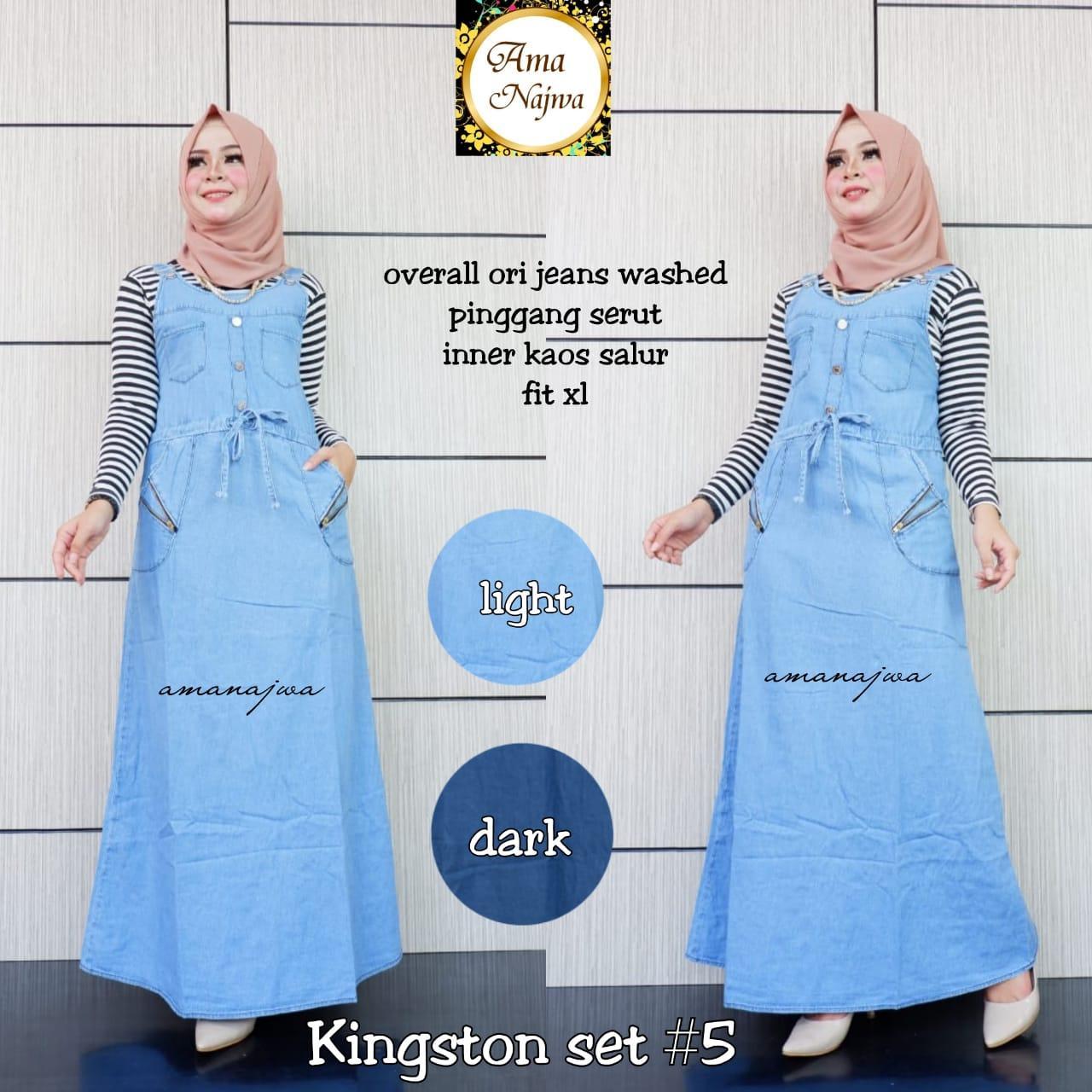 Kingston Set #5 - Overall Rok Jeans plus inner - Rok Kodok plus inner