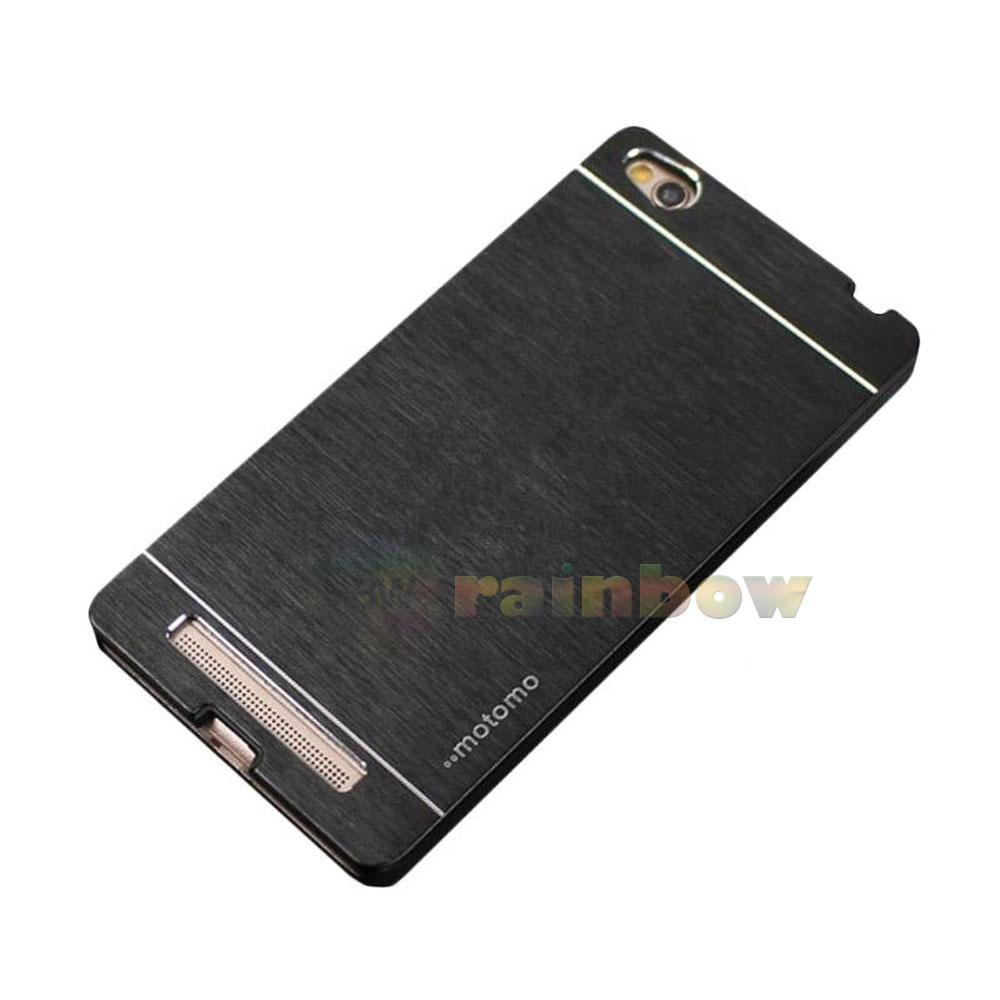 Motomo Hard Case Xiaomi Redmi 4A Metal Brush Hardcase & Polycarbonate Anti Slip / Hard Back Case Redmi 4A Black / Hard Cover / Casing Xiaomi Redmi 4A - Hitam
