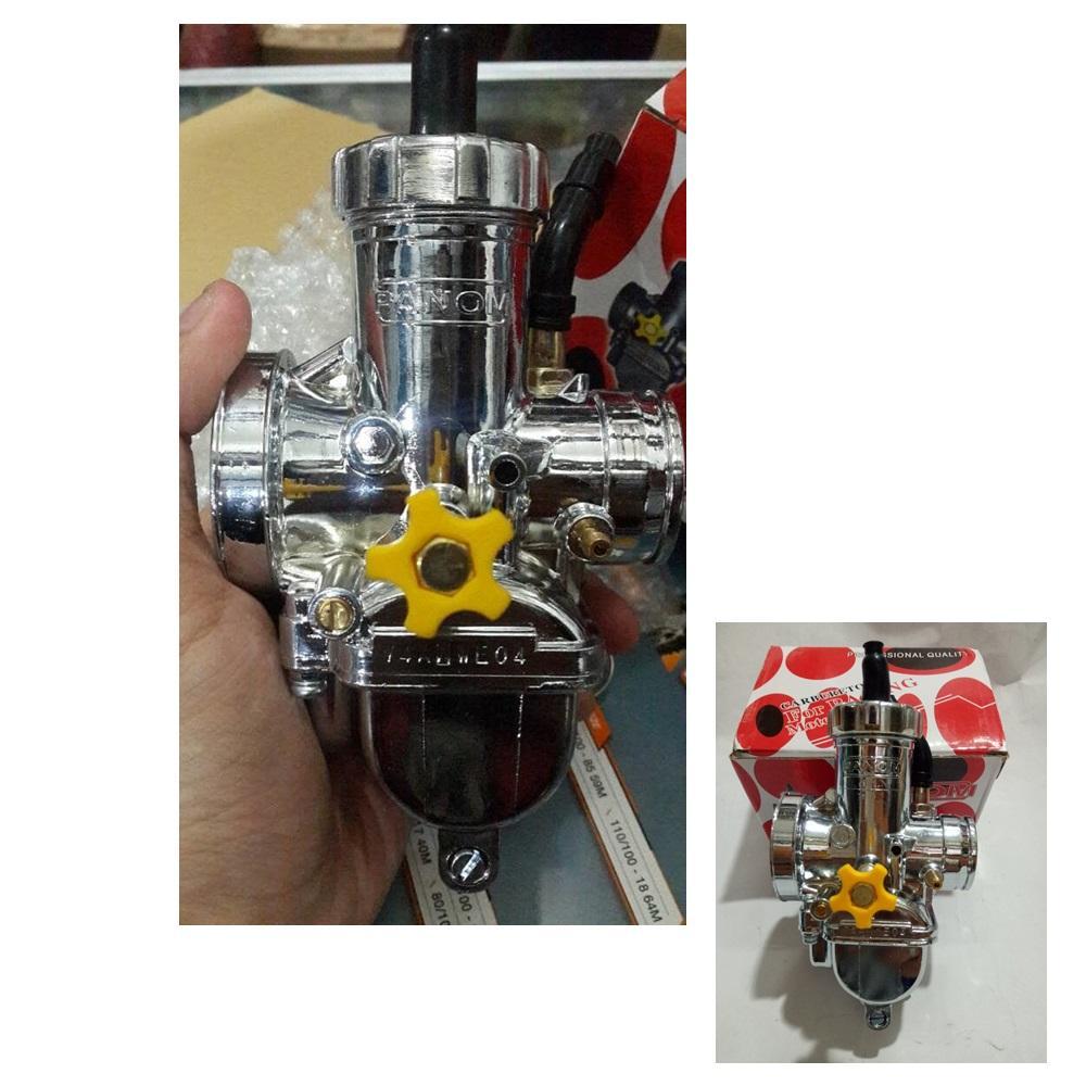 Kehebatan Filter Karburator Pe 24 26 28 Model Turbin Warna Biru Dan Karbu Kehin Carburator Universal Chrome