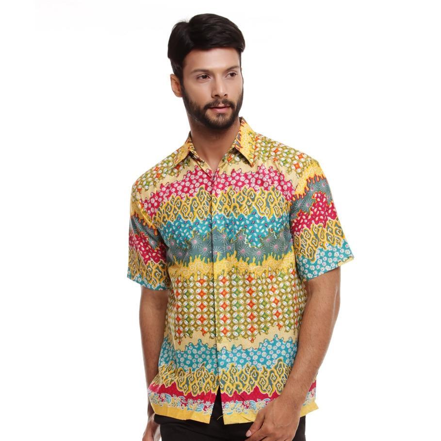 Kemeja Batik Pria Lengan Pendek Asli Cirebon