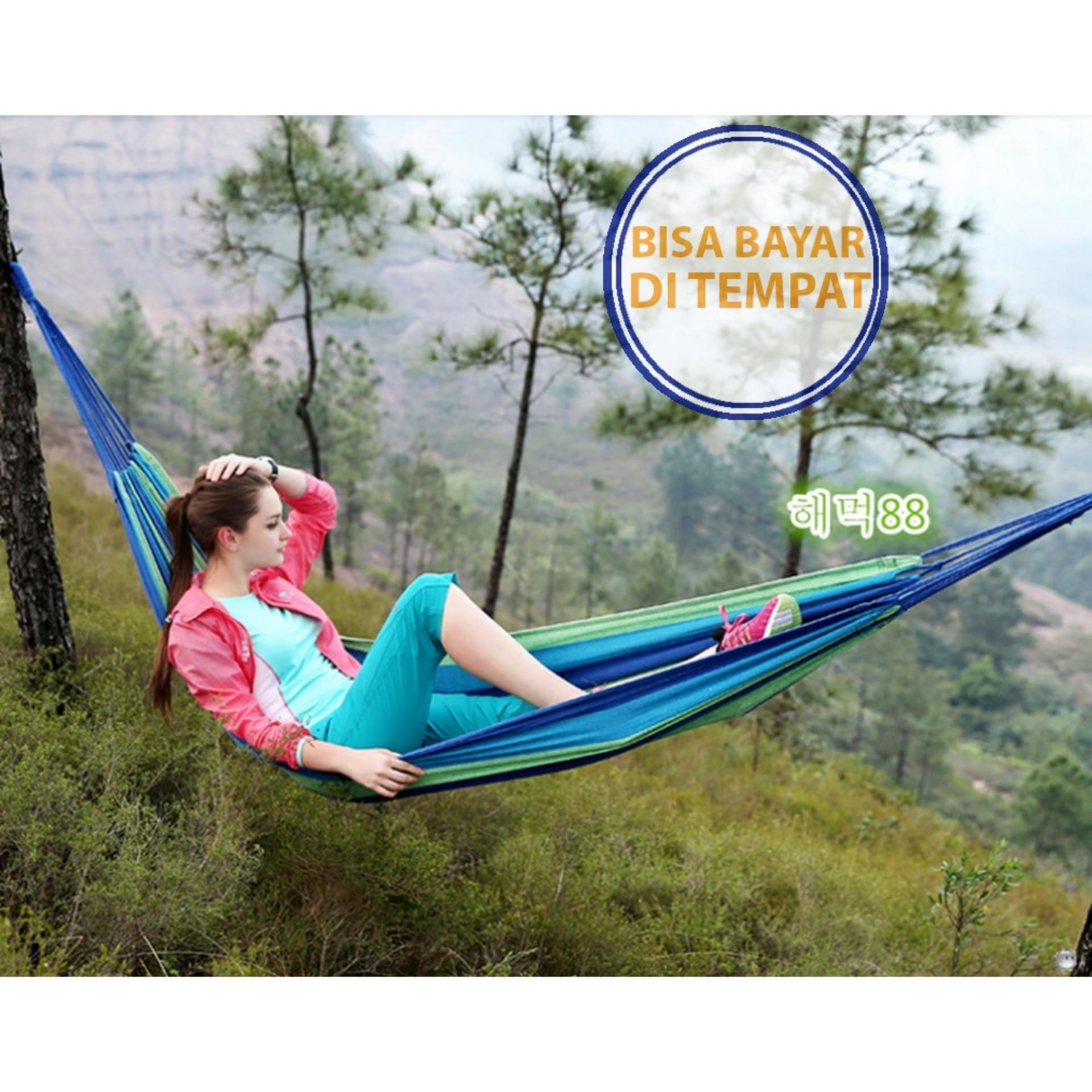 PROMO SAAT INI Hammock Single Tempat Tidur Gantung Pohon Ayunan Tikar Piknik Rekreasi