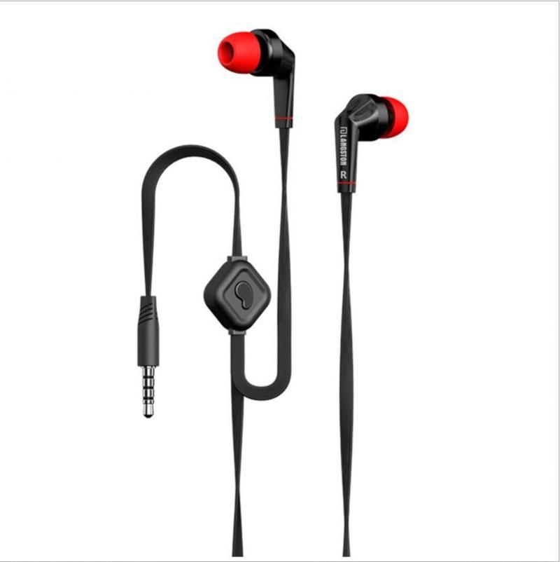 Detail Gambar Langsdom Earphones Bass dengan Mic 3.5 mm Connector Mendengarkan Musik Lagu MP3 Music Player