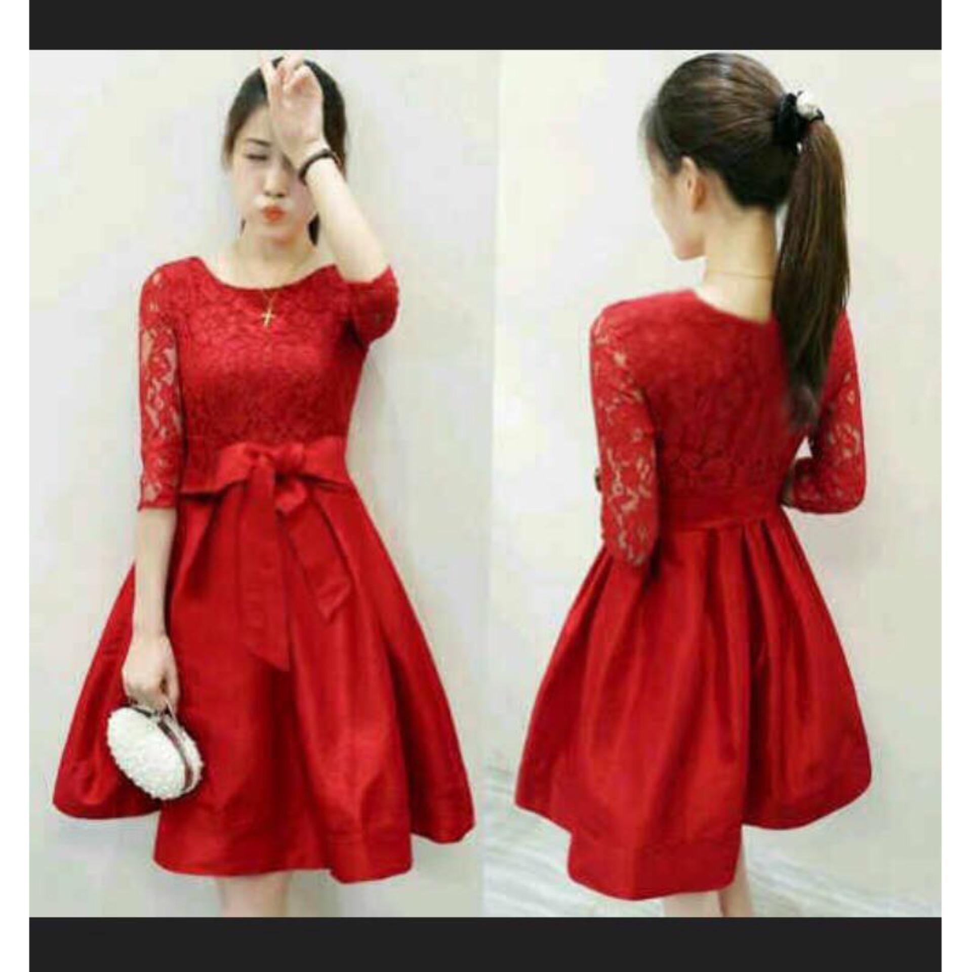 F Fashion Dress Wanita Casual Marry / Dress Pesta / Dress Korea / Dress Wanita /