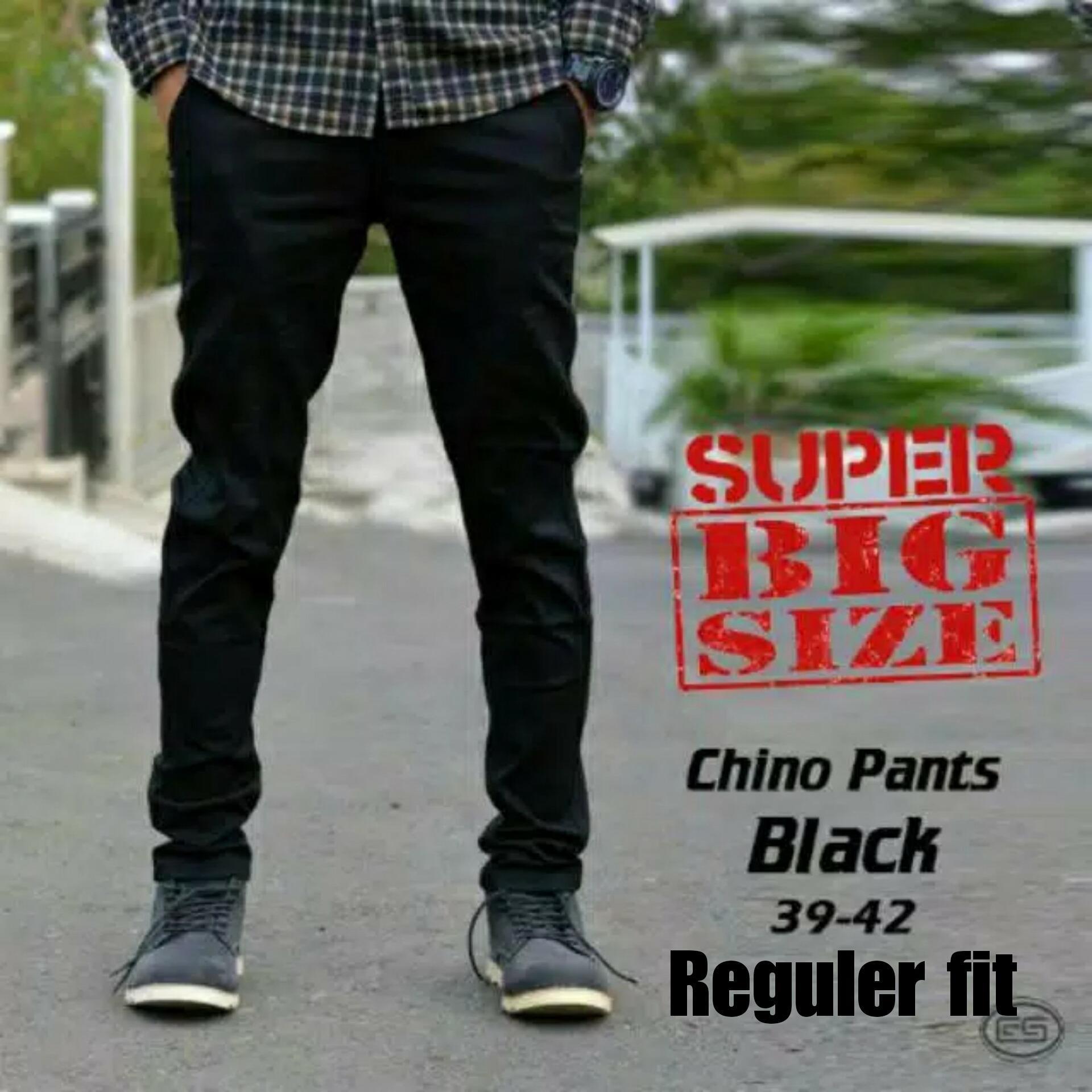 Spesifikasi Celana Chino Jumbo Premium Hitam Merk Impresif