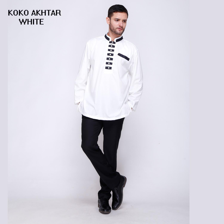Baju Koko Akhtar Kemeja Muslim Pria Terbaru Brand Factory Oulet Fashion Keren