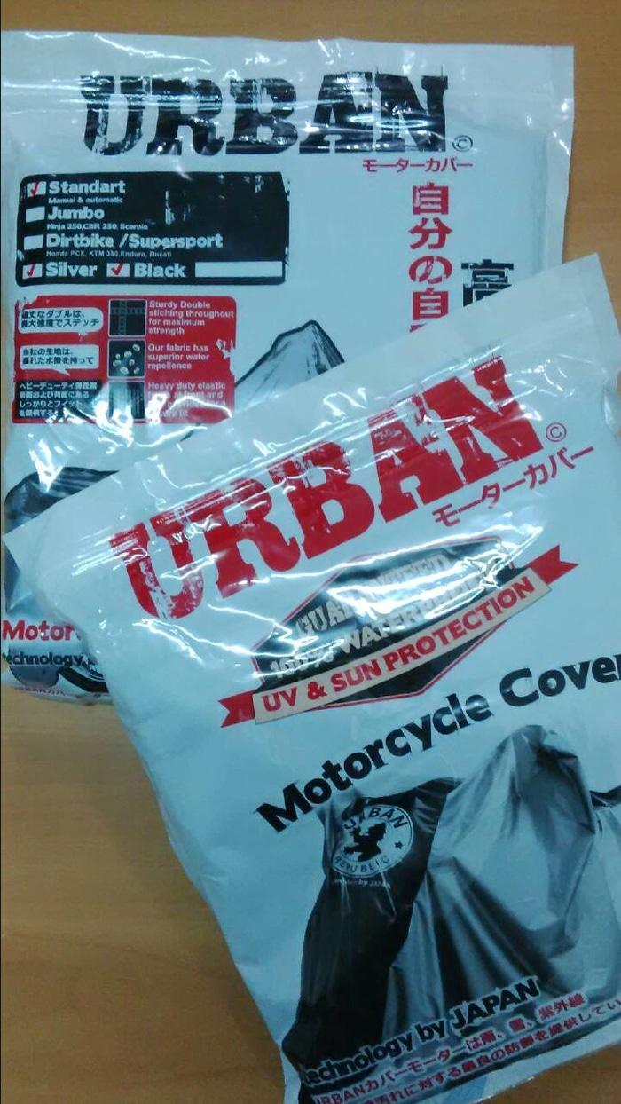 COVER MOTOR merk URBAN buat bebek & matic type STANDARD sarung tangan - 2