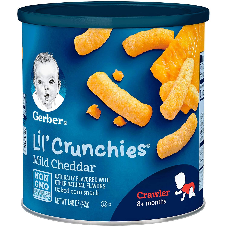 Gerber Graduates Lil Crunchies Mild Cheddar 42gr