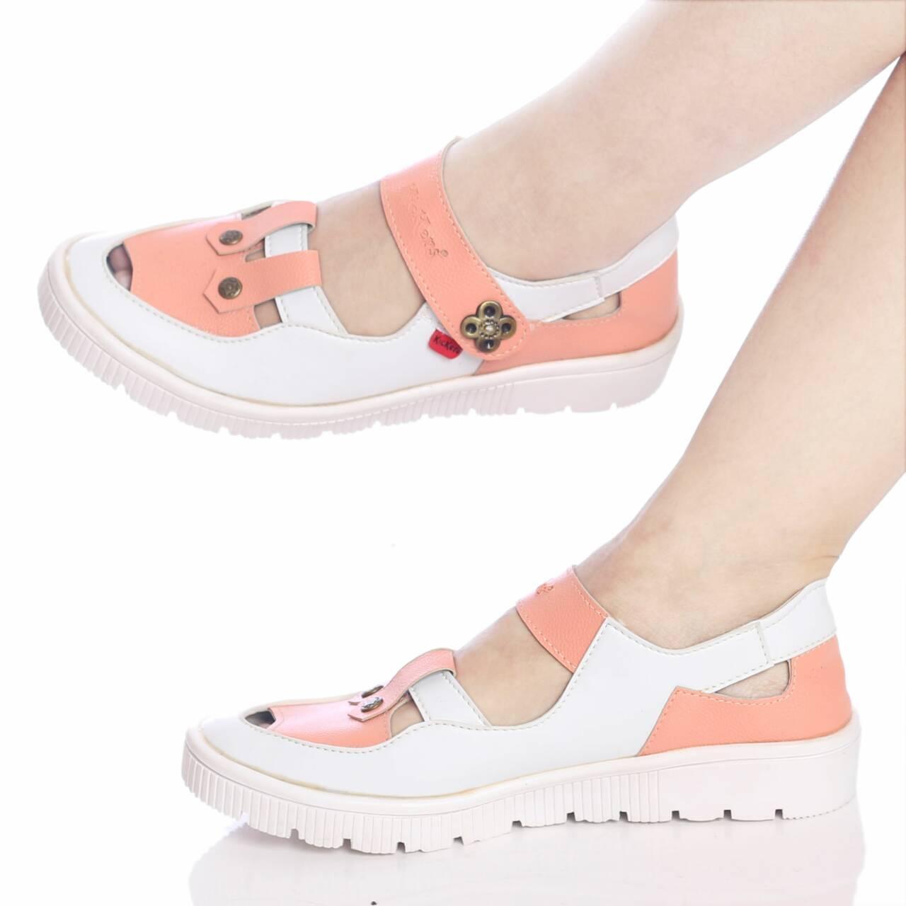 Promo sepatu sandal murah wanita cewek platform KICKERS france Fashion