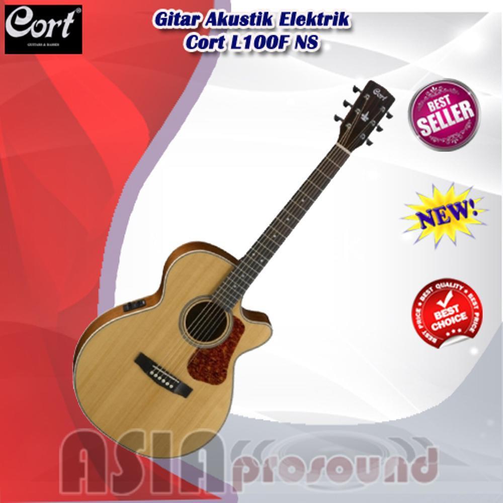 Gitar Akustik Elektrik Cort L100F NS - L 100 F NS - L-100F NS Original