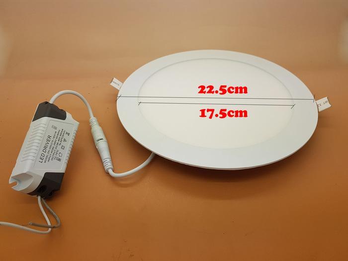 ORIGINAL - Led Panel 18 watt light Model BULAT Merk SANLY ( NYALA SUPER BRIGHT )