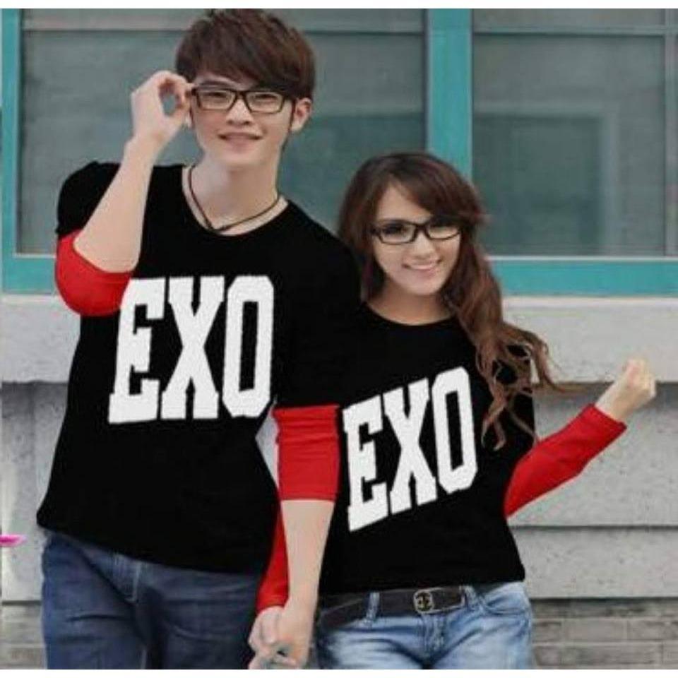 MT'COUPLE - Kaos Couple EXO | Busana Pasangan | Baju Pasangan | Kaos Pasangan | Kaos Oblong Pasangan | T- Shirt