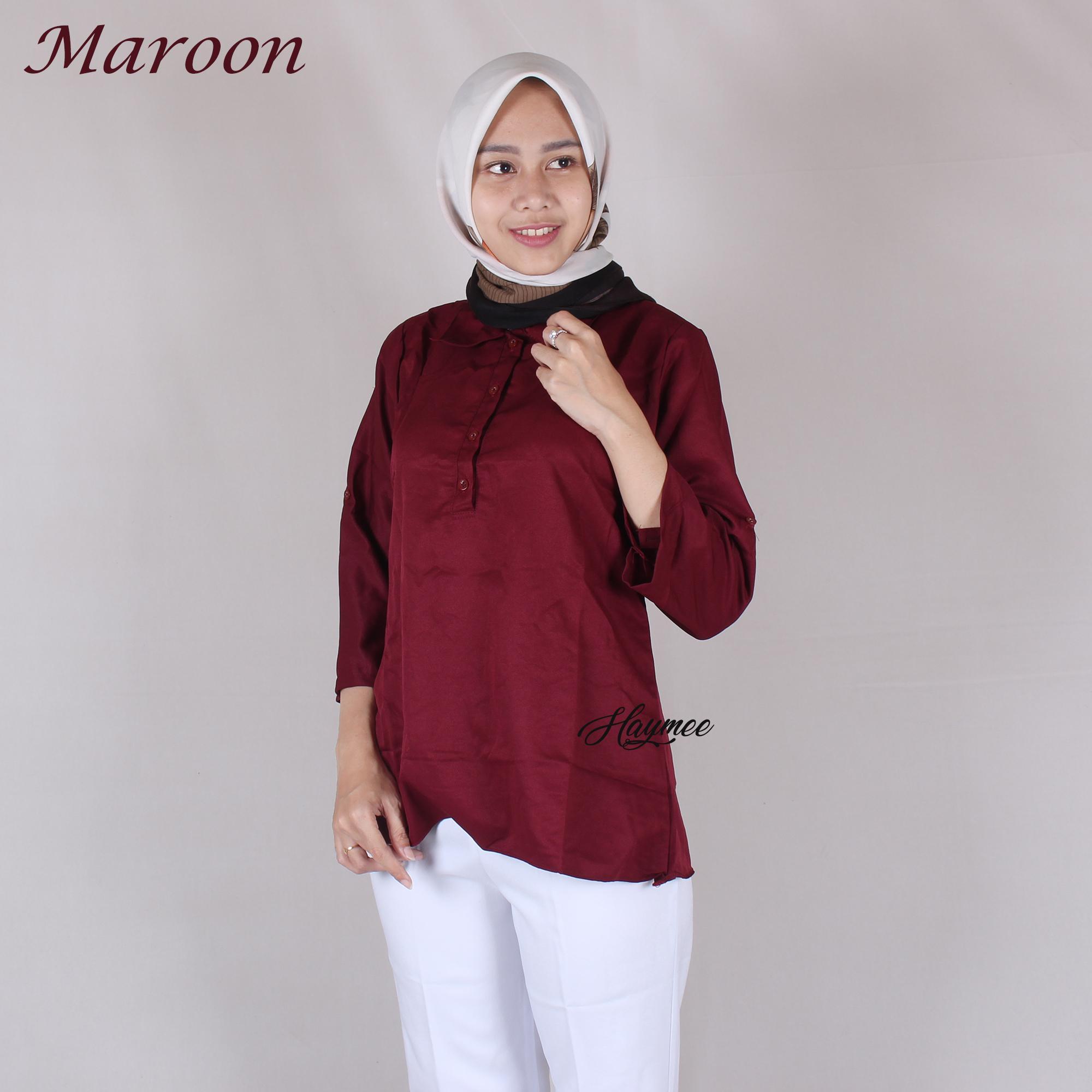Fitur Baju Pakaian Blouse Kaos Cewek Wanita Casual Cressida Warna Kantor Haymeestore Kemeja Atasan Cewe Formal Motif Kotak