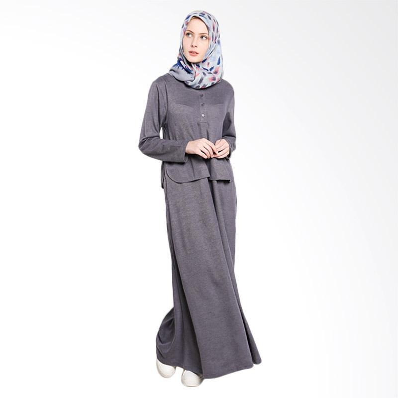 Dauky L Dienza Long Dress Muslim - Grey