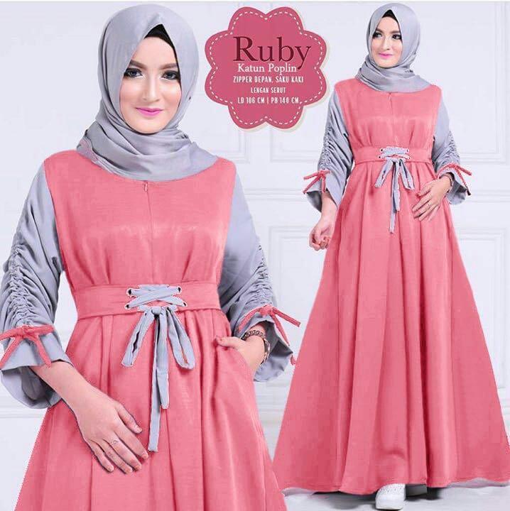 Honeyclothing Dress Muslimah   Baju Dress Muslim Terbaru   Dress Hijab  Wanita   Gamis Wanita Rabia 3c9a01e5ff