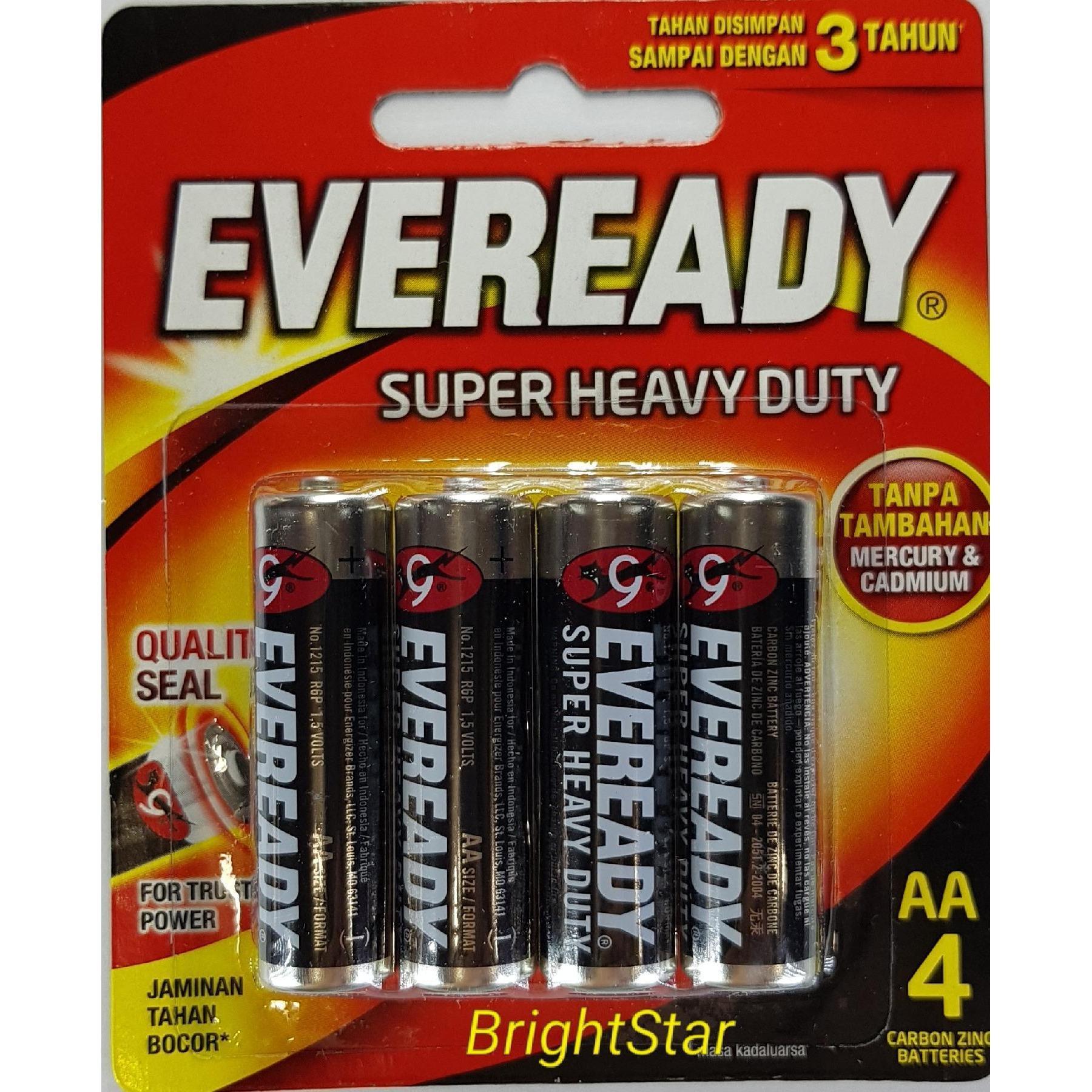 Baterai/Batre EVEREADY AA Hitam (4 PCS/PACK) Super Heavy Duty