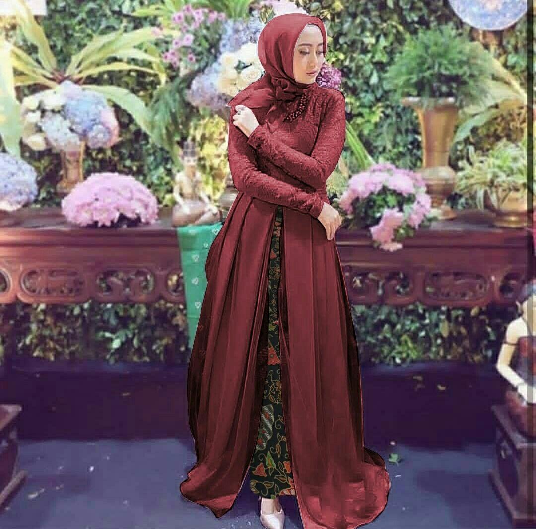 Honeyclothing Setelan Wanita Deveta / Kebaya Panjang / Kebaya Murah / Setelan Wanita / Setelan Batik