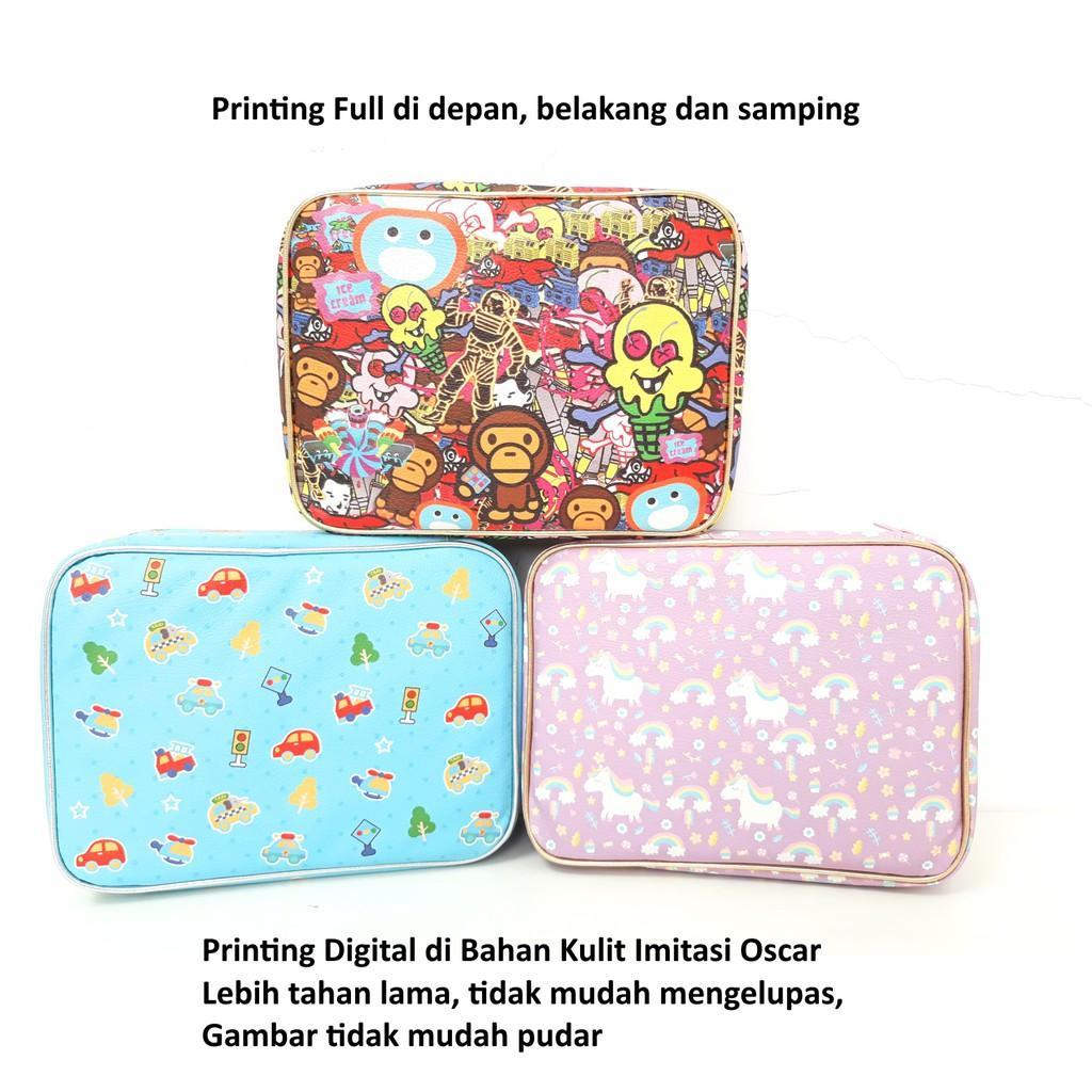 Fitur Set Lunch Box Kotak Makan Bento Yooyee Dan Bag Tempat Sup Hijau Bekal Full Printing Variasi