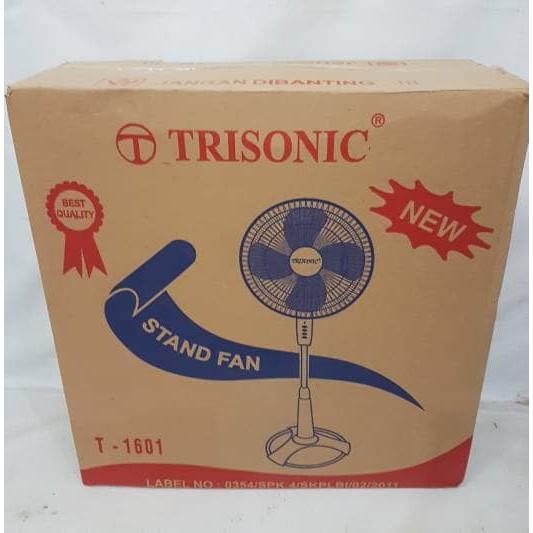 Detail Gambar Kipas Angin Berdiri Trisonic Stand Fan 16 Inchi - 1601 Terbaru