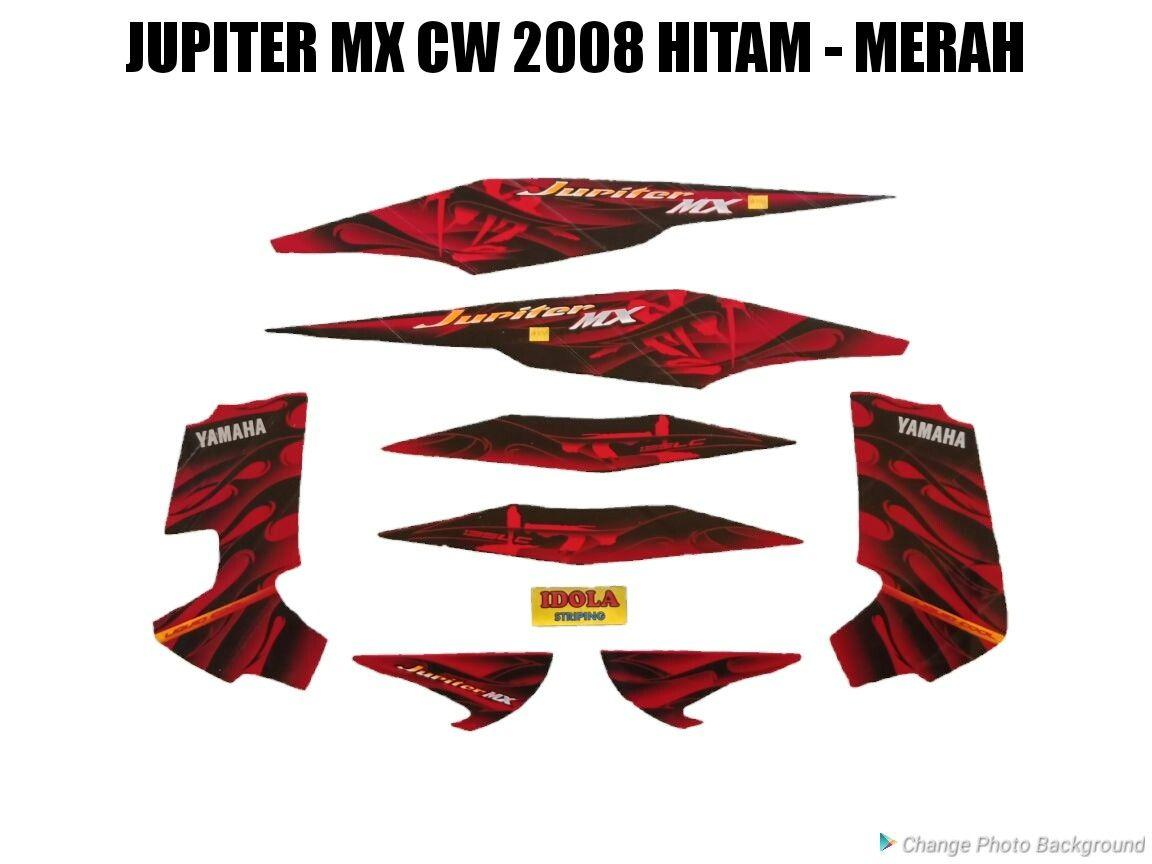 Harga Striping Jupiter Mx Cw 2008 Hitam Merah New
