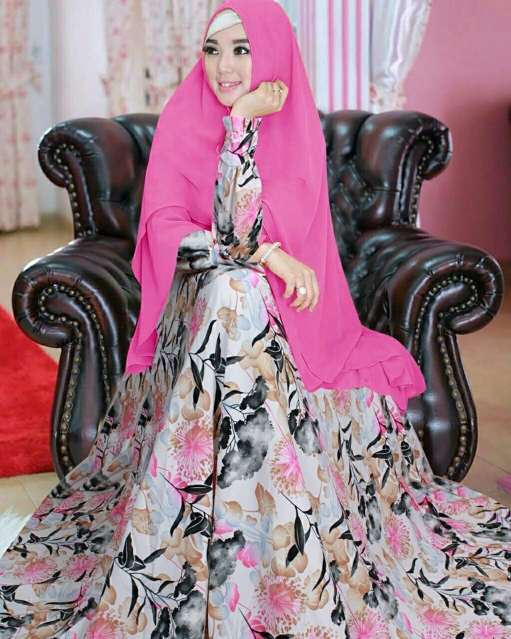 Grosir Hasanah Gamis Syari Maryam/ Syari Set 2in1 Gamis Khimar / Syari Hijub Trendy