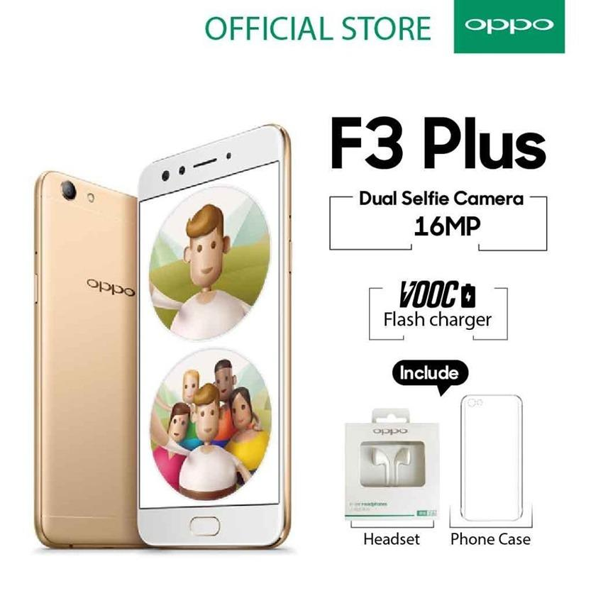 Oppo F3 Plus 4GB/64GB - Gold