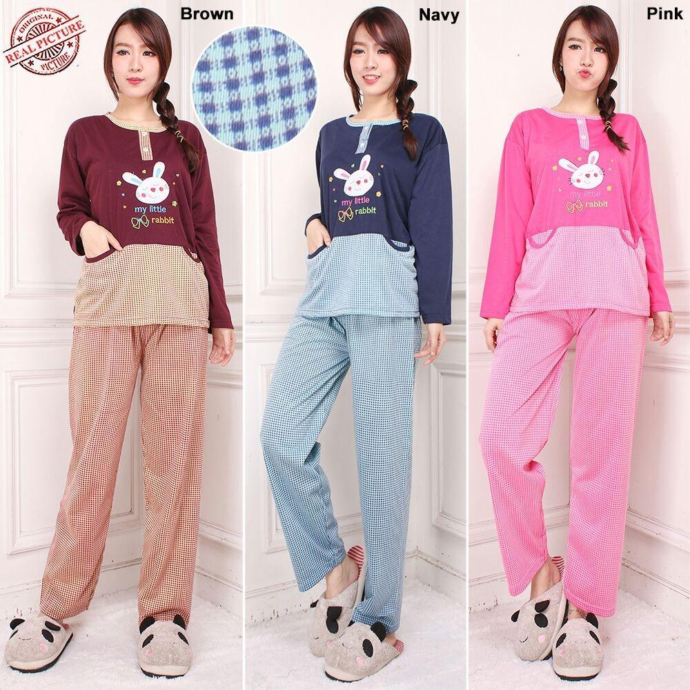 SB Collection Stelan Baju Tidur Kaylie Piyama Dan Celana Panjang Jumbo Wanita