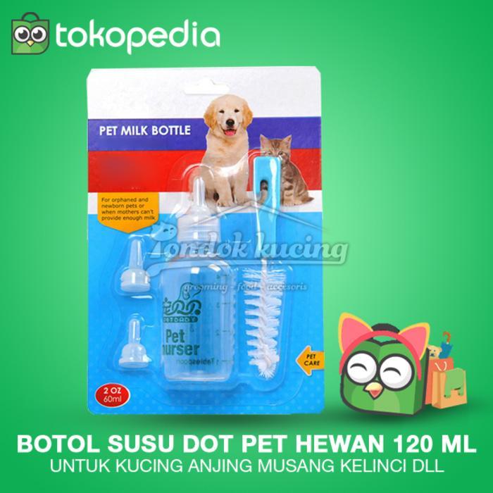 Botol Susu Dot Pet Hewan Kucing Anjing Musang Kelinci Dll 120 Ml