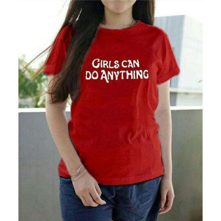 Gambar Produk Rinci Vanessa Tumblr Tee / T-Shirt Girls can do anything/ T-shirt Wanita / Kaos Cewek / Tumblr Tee Cewek / Kaos Wanita Murah / Baju Wanita ...