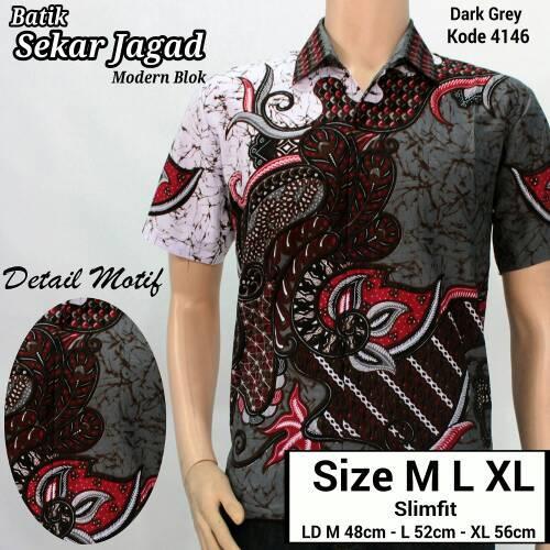 Jual Kemeja Batik Pria Kemeja Batik Eksklusif Baju Batik Modern Casual Pria Ori