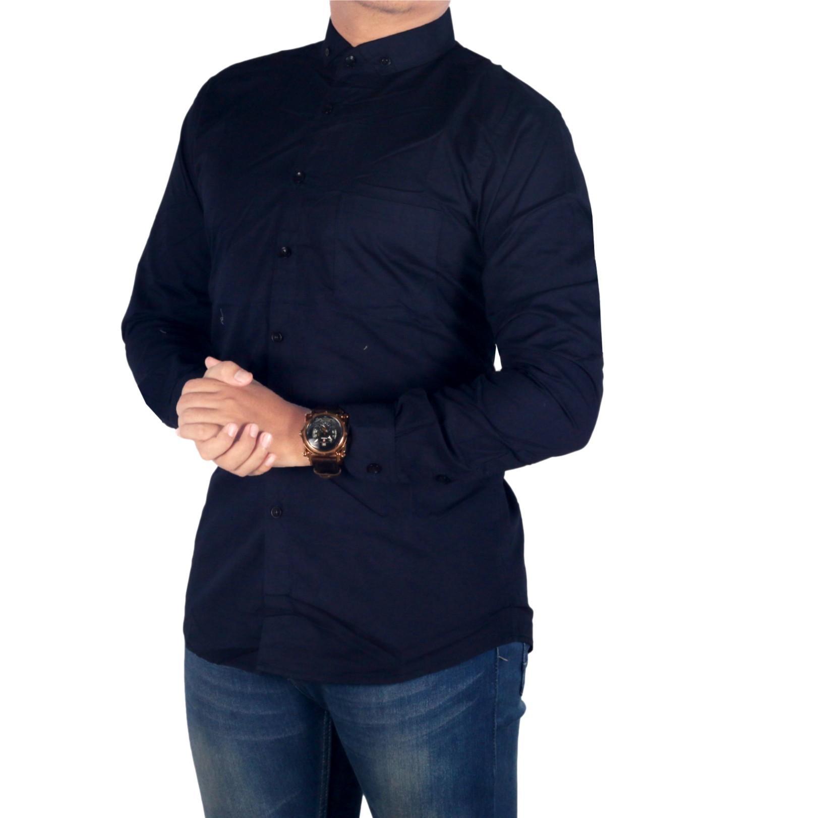 Dgm_Fashion1 Kemeja Polos Biru Lengan Panjang/ Flanel/Kemeja Woll/Kemeja Beckham/Kemeja Casual/Kemeja Polos/Kemeja Distro/Kemeja Kantoran/Kemeja Jeans/Kemeja Denim/Kemeja Pendek/Kemeja Tartan/Kemeja Pantai/Kemeja Bunga/Kemeja Man PX 4607