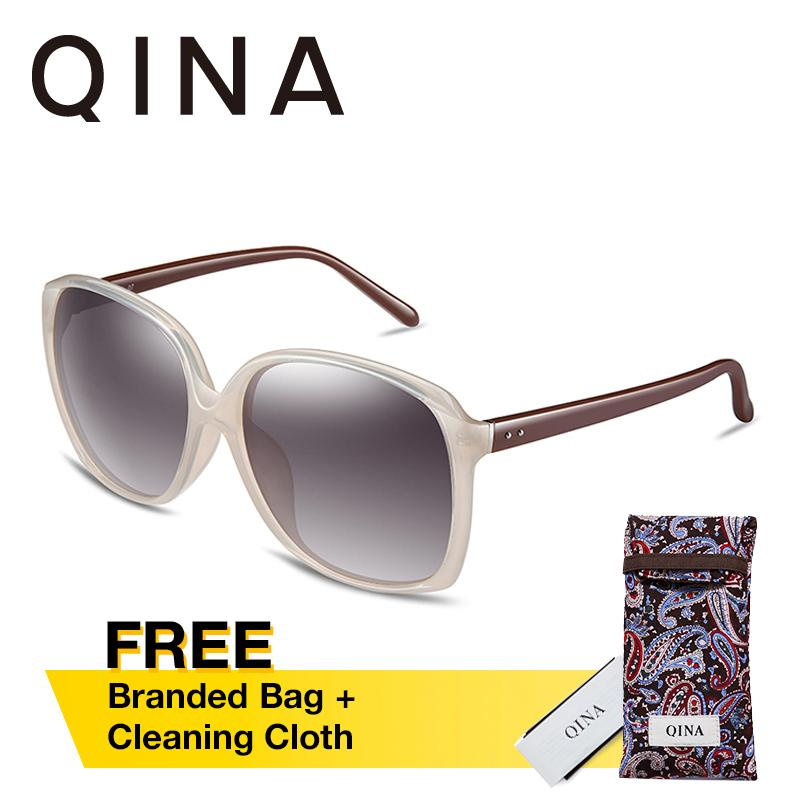 Toko Qina Kacamata Polarized Wanita Beige Lengan Kacamata Cokelat Kotak Lensa Abu Abu Proteksi Uv 400 Qn3518 Terlengkap Di Hong Kong Sar Tiongkok