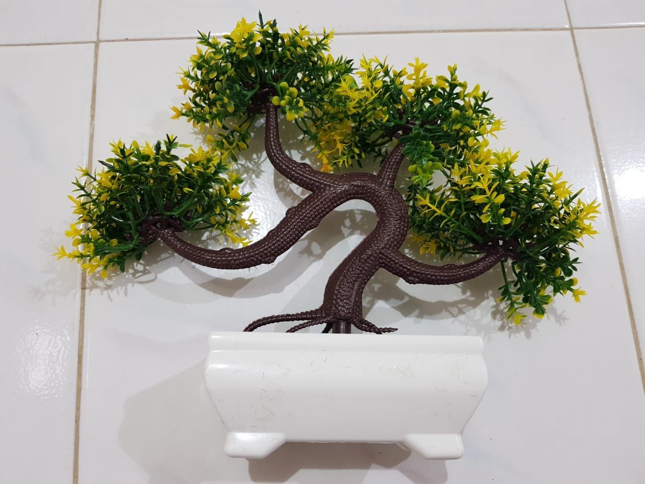 BONSAI Meja Bonsai Plastik Bonsai Artifisial pohon Bonsai - Dikit Kuning 50defa44e5