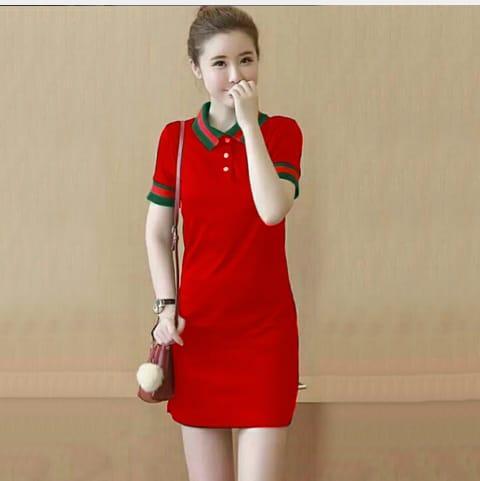 TERMURAH Dress WK Gucci Red pakaian wanita terbaru terpopuler terlaris pesta  kondangan santai d485d18c02